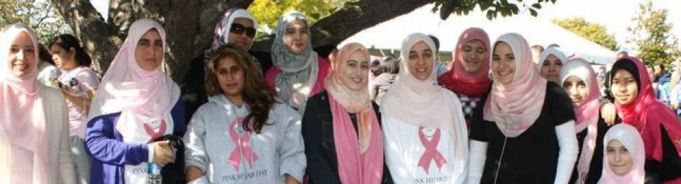 Pink Hijabs for a cure